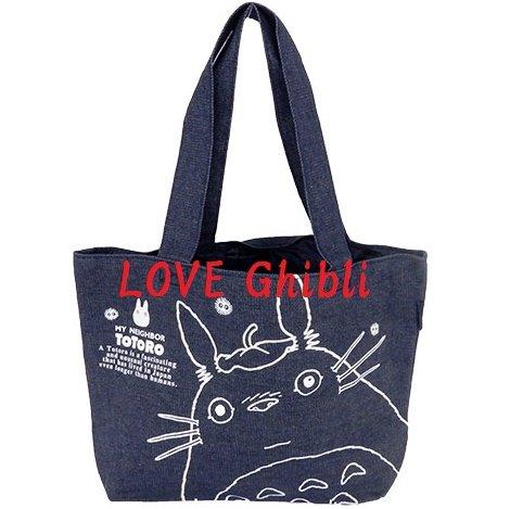 Lunch Bento Tote Bag - 40x26cm - Denim - Made in Japan - Totoro - Ghibli - 2016 (new)