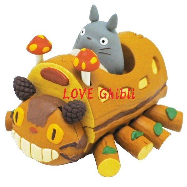 Toy - Pull Back - Moves Forward - Nekobus Catbus & Totoro & Mushroom Move - Ghibli - 2016 (new)