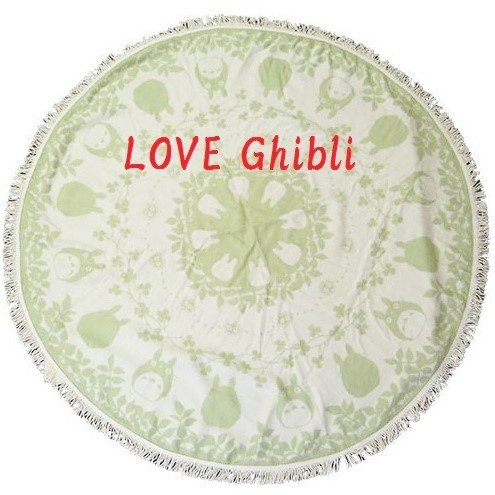 Blanket - Round 140cm - Jacquard Weaving & Fringe - Made Turkey - Totoro - Ghibli - 2016 (new)