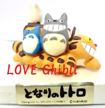 1 left - Ornament Figure - Handmade in Japan - Sho Chu Totoro Nekobus Catbus - no production (new)