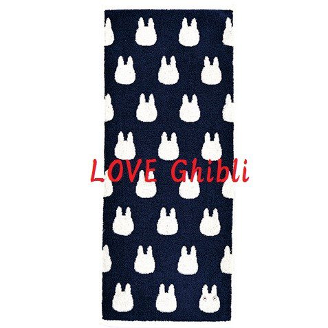 Face Towel - 33x80cm - Jacquard Weaving - Made in Portugal - Navy - Sho Chibi Totoro - 2016 (new)