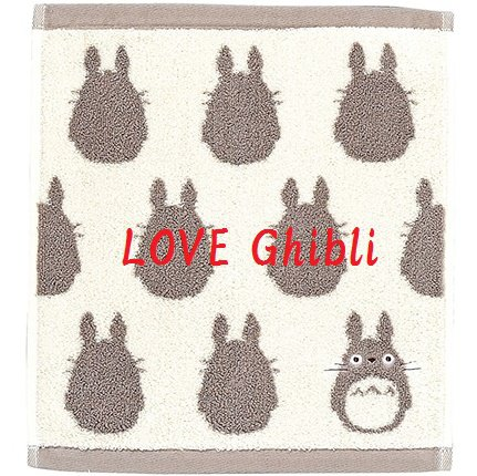 Wash Towel - 33x36cm - Jacquard Weaving - Made in Portugal - Grey - Totoro - Ghibli - 2016 (new)