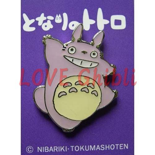 4 left - Pin Badge - Purple - Totoro - Ghibli - no production (new)