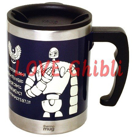 Thermal Mug Cup 400ml - In Collaboration with Thermo Mug - Robot - Laputa - Ghibli - 2016 (new)