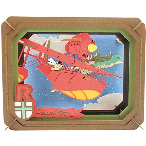 Paper Craft Kit - Paper Theater - Savoia - Porco Rosso - Ghibli - Ensky - 2016 (new)