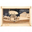 Woodcraft Kit - Paper Theater Wood Style - Savoia S.21F - Porco Rosso - Ghibli - Ensky - 2017 (new)