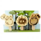 3 Wooden Clip - Handmade by Disabled Person - Made in Japan - Totoro Fund (new)