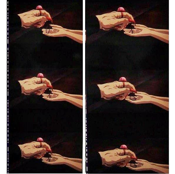 1 left- Bookmarker - Movie Film #48- 6 Frame - Chihiro Yubaba - Spirited Away - Ghibli Museum (new)