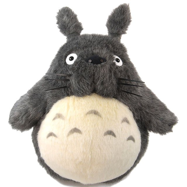 Plush Doll (LL) - H55cm - Handmade - dark gray - Totoro - Ghibli - Sun Arrow (new)