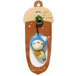 2 left - Hook Strap - Mascot - Bell - Chu Totoro & Corn & Kurosuke - Sun Arrow - no production (new)
