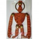 3 left - Key Holder - Natural Leather - Made Japan - Robot Laputa - Ghibli Museum Card & Bag (new)