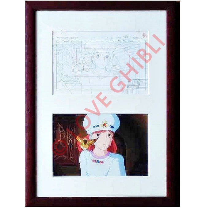 1 left - Art Frame - Ghibli Layout Designs Exhibition - Nausicaa - 2008 - no production (new)