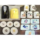 1 left - 5 Plate + 5 Cup + 5 Lunch Mat + 2 Shaker - Nestle Spirited Away Ghibli no production (new)