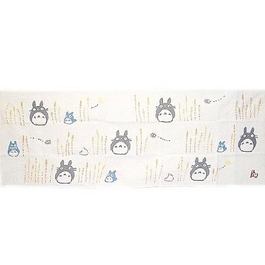 1 left- Towel Tenugui 33x90cm Horsetail Japanese Dyed Made Japan Totoro Ghibli no production (new)