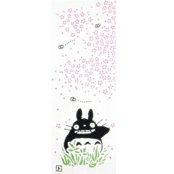 Towel Tenugui - 33x90cm - Sakura - Japanese Dyed Made Japan Totoro Ghibli no production (new)