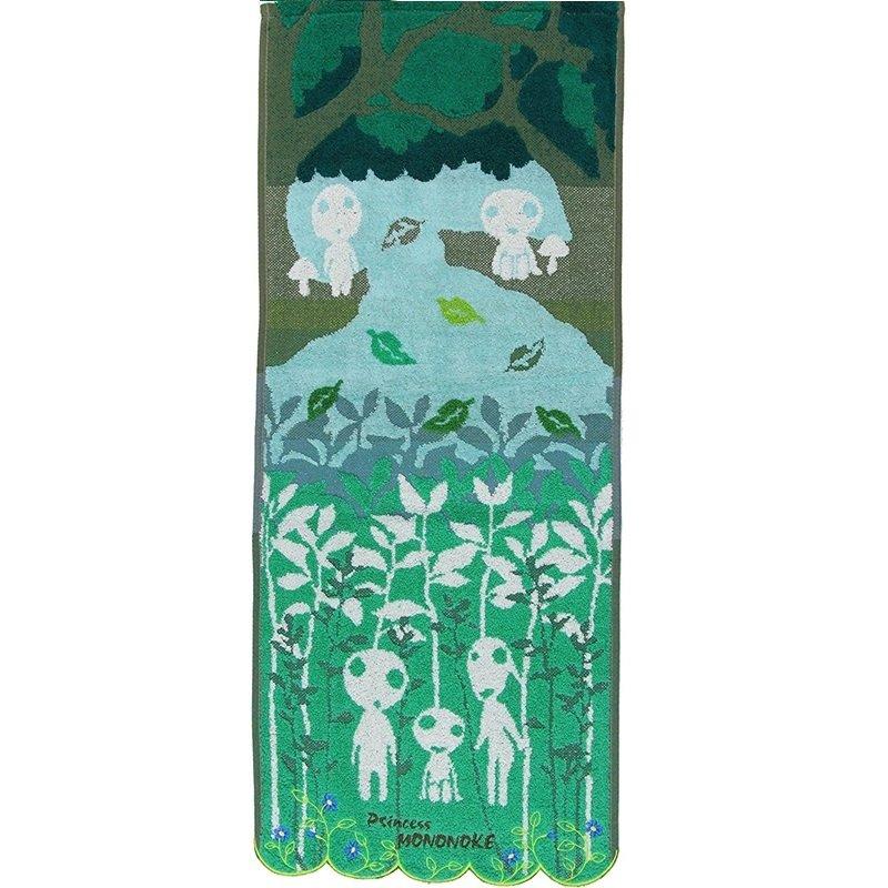 Face Towel - 34x80cm - Jacquard Weaving - Embroidery - Kodama - Mononoke - Ghibli - 2017 (new)