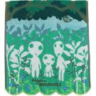 Face Towel - 34x35cm - Jacquard Weaving - Embroidery - Kodama - Mononoke - Ghibli - 2017 (new)