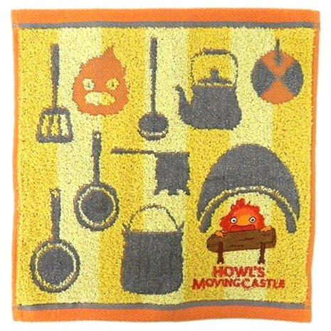 Mini Towel - 25x25cm - Jacquard Embroidery - Calcifer - Howl's Moving Castle - Ghibli - 2017 (new)