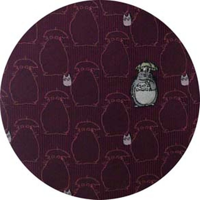 Necktie - Silk - Embroidery - Silhouette - wine - Made Japan - Totoro - Ghibli 2017 (new)