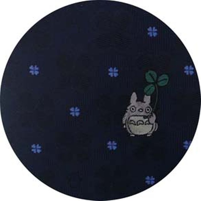 Necktie - Silk - Embroidery - Silhouette Clover - navy - Made in Japan - Totoro - Ghibli 2017 (new)