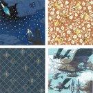 Chiyogami Japanese Paper Washi 20 Sheet 4 Design 15x15cm -Made Japan Laputa Ghibli Ensky 2017(new)