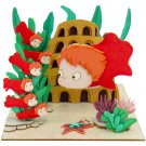 Miniatuart Kit - Mini Paper Craft Kit - Ponyo & Sisters - Ghibli - 2016 (new)
