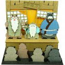 Miniatuart Kit - Mini Paper Craft Kit - Inugami Gyobu & Yashimano Hage - Pom Poko Ghibli 2016 (new)