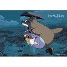 70 pieces Jigsaw Puzzle - Large Size Pieces - Totoro Chu Sho Mei Satsuki - Ghibli Ensky 2014 (new)
