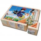 Puzzle - 12 Wooden Blocks - 6 Patterns - Kiki's Delivery Service - Ghibli - Ensky - 2014 (new)