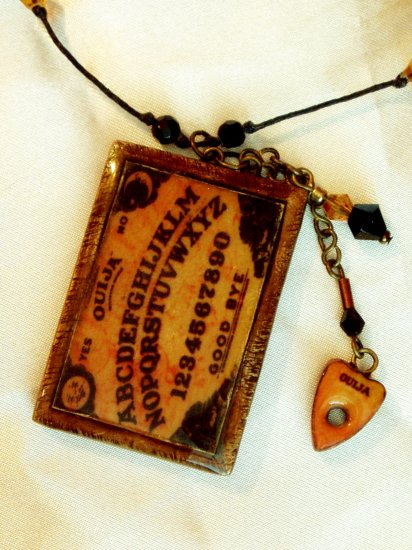 Miniature Ouija Board necklace with mini planchett -An online best seller