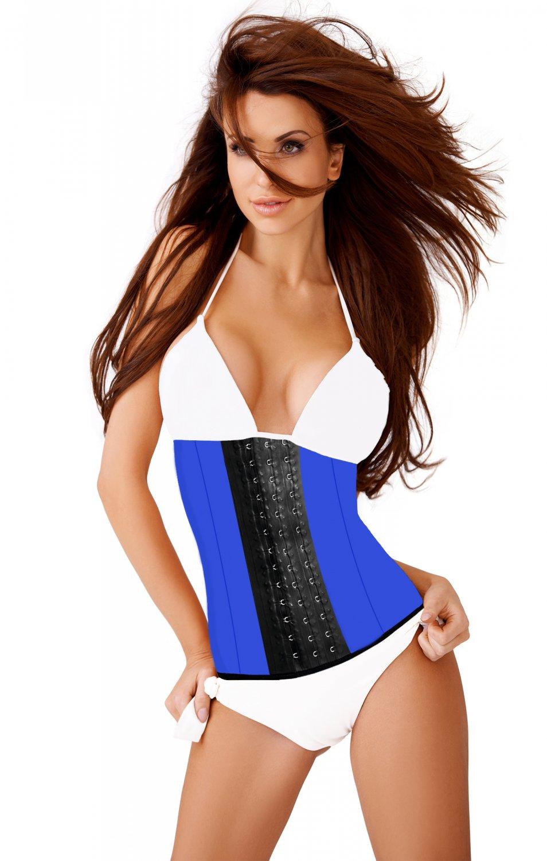Ann Slim Classic Sport Latex Waist Training Colombian Girdle Blue Size 40