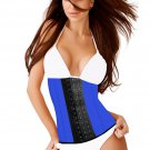 Ann Slim Classic Sport Latex Waist Training Colombian Girdle Blue Size 38