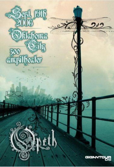OPETH Rare promotional CONCERT poster