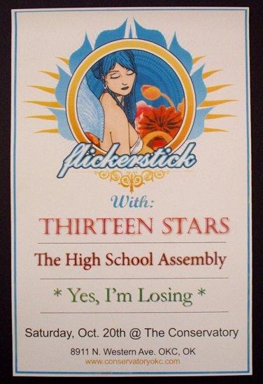 FLICKERSTICK thirteen stars Promotional CONCERT poster collectible