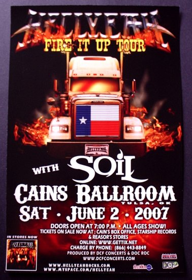 HELLYEAH rare promotional CONCERT poster SOIL