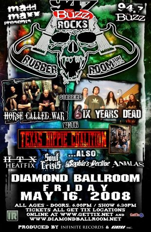 HORSE CALLED WAR 6ix years dead CONCERT POSTER collectible