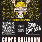 LESS THAN JAKE reel big fish CONCERT POSTER collectible