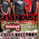 SEVENDUST bloodsimple CONCERT POSTER collectible