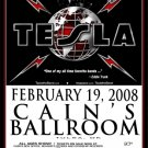 TESLA rare promotional CONCERT poster collectible