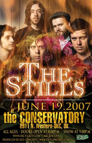 THE STILLS rare CONCERT POSTER collectible promotional