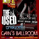 THE USED army of me CONCERT POSTER promotional collectible