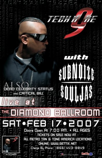 TECH N9NE subnoize Souljas CONCERT POSTER collectible