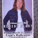 ROBERT PLANT rare Concert tour poster promotional collectible