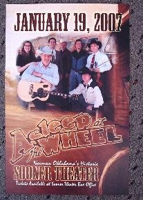ASLEEP AT THE WHEEL rare promotional Concert poster collectible