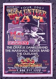 CHARLIE DANIELS BAND marshall tucker Concert poster Collectible
