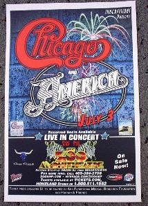 CHICAGO & AMERICA rare promotional Concert tour poster Collectible