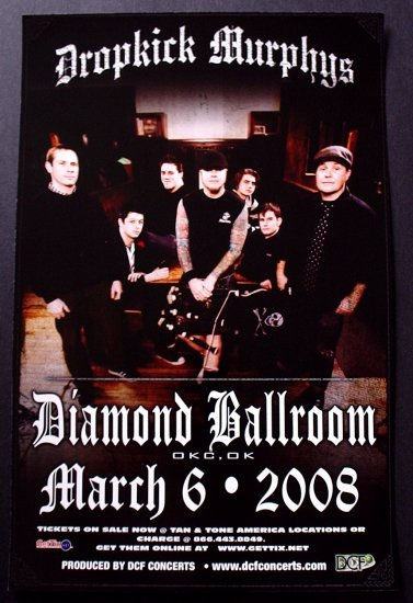 DROPKICK MURPHYS rare promotional CONCERT poster collectible