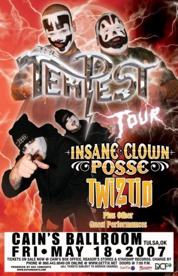 INSANE CLOWN POSSE rare TWIZTID concert poster collectible