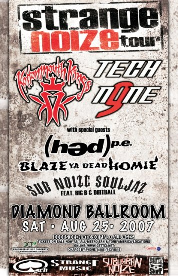 KOTTONMOUTH KINGS tech n9ne CONCERT POSTER hed collectible