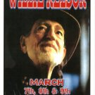 WILLIE NELSON rare promotional CONCERT poster collectible